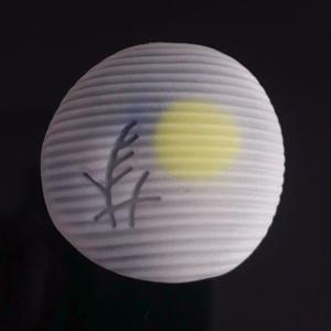 秋の月 秋の夜空に浮かぶ、十五夜の満月をお菓子で表現いたしました。秋の夜空に想いをはせながら、どうぞご賞味ください。価格:200円、お日持ち:2日(要冷蔵)、アレルギー情報:大豆成分含む